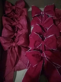 Valentine's bows red/red silver Chesapeake