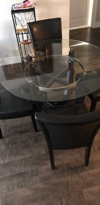 black wooden frame glass top table Miami, 33196
