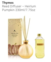Lot of 3 Thymes Reed Diffuser - Heirlum Pumpkin 230ml/7.75oz Diffusers Germantown, 20876