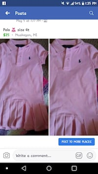 Girls Polo dress size 4t Muskegon Heights, 49444