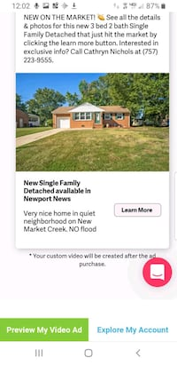 HOUSE For Sale 1023 Faubus Drive. NN, 23605 Newport News