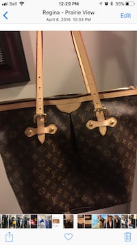 Black and brown louis vuitton leather tote bag Regina, S4Y 0B6