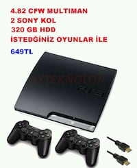 ps3 multiman 320gb +2 kol Parsana Mahallesi, 42250