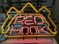 Red hook brewery neon sign man cave Arlington, 02474