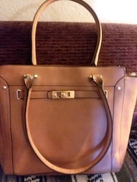 brown leather 2-way handbag Laughlin, 89029