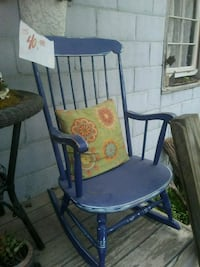 Vintage antique solid wood rocking chair Fairview, 28730