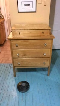 Beautiful wooden dresser refinished by hand