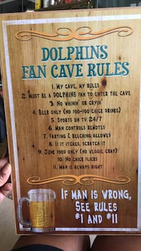 Dolphins fan cave rules Baltimore, 21206