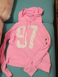 97 pink and white pull over hoodie jacket Calgary, T3E 3G1