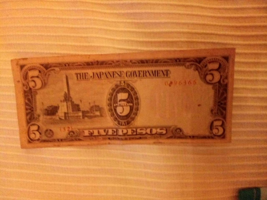 Philippines peso Japanese government