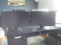 Two Acer 19.5 lcd monitors.