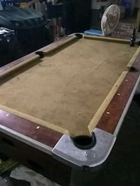 brown and white wooden pool table