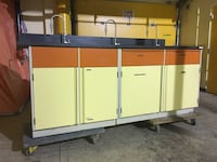 Metal cabinets w/epoxy resin tops 4 abailable