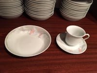 Used china & glass ware, place settings for 70+ null