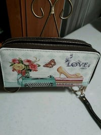 white and pink floral leather wristlet Phoenix, 85017