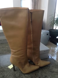 Pair of light brown ALDO leather knee-high boots (NEW) Vancouver, V5M 4C3