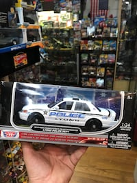 white and blue Ford Mustang die-cast model La Puente, 91744