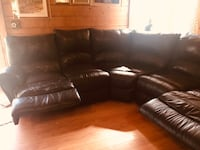 Leather couch-B.O Weare, 03281