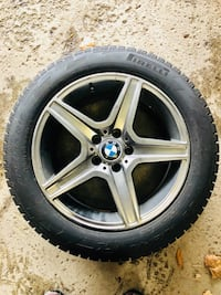 FIRELLI snow tires and rims!!     17 inch Premium alloy wheels 225/55  4 tires with rim Used on X1   $850 OBO    Markham