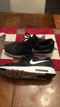 black-and-white Nike Airmax