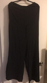 Woman's black jumpsuit ties at the waist size large  Barrie, L4N 9P8