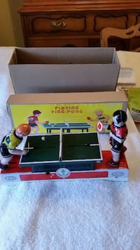 Ping pong tin wind up toy