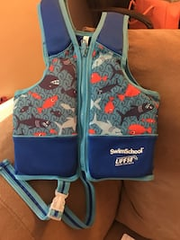 Kids' blue SwimSchool UPF50 life vest Frederick, 21701