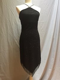 Black dress up- dress w/silver sparkle size 10, made in USA . Woodbridge, 22191