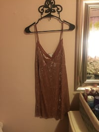 Crushed velvet dress pinkish colored Watsonville