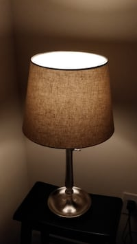 Gothem Dimmable Table Lamp with Classic Textile Lamp Shade and LED Bulb  Falls Church