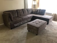 Brand New Large Brown Sectional With Storage Ottoman-VanquishLiving Stafford, 77477