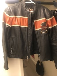 black and red leather jacket Calgary, T2V