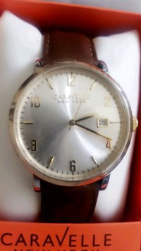 Men's Watch brand new authentic leather never worn Santa Ana, 92707