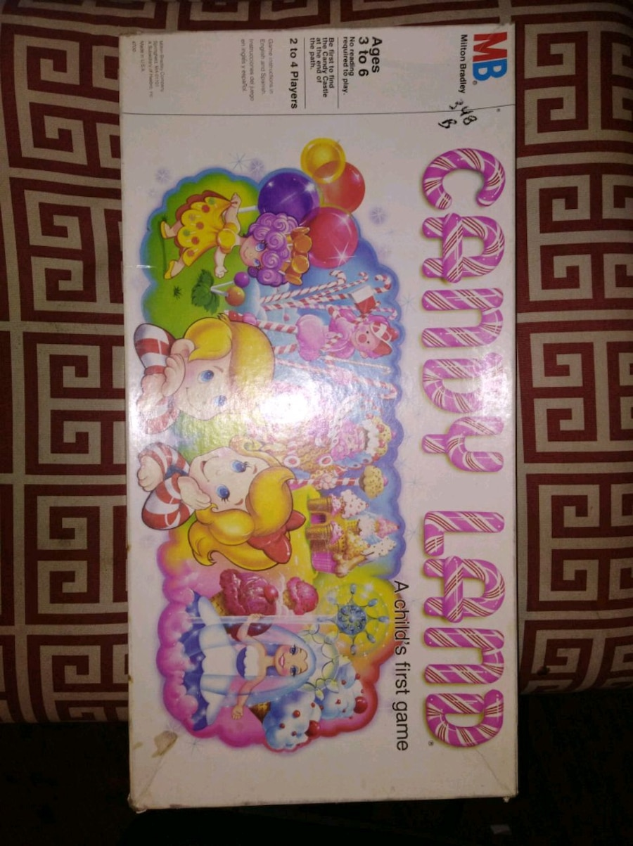 Photo 1984 Vintage Candy Land Board Game by Milton Bradl
