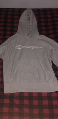 Gray champion pull-over hoodie Chicago, 60646