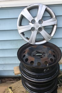 Steel 14 inch rims set of 4 bolt pattern 4x100 comes with Hyundai TPMS Falls Church, 22043