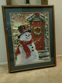 """PROFESSIONALLY FRAMED 31"""" X 39"""" SNOWMAN PUZZLE Bakersfield, 93308"""