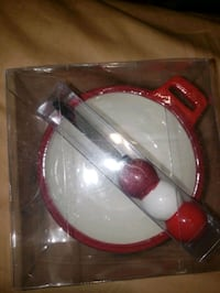 Snow flake cheese ball holder and spreding knife  Vancouver, V5P 1B8