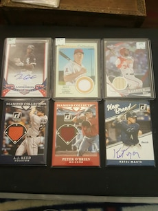 assorted signed baseball dueling cards