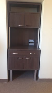 Brown wooden rack with cabinet Montréal, H2Y 2A5