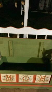 white and green wooden bed frame Prairieville, 70769