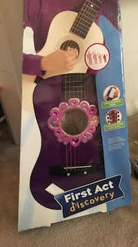 purple wooden First Act Discovery guitar in box Gaithersburg, 20878