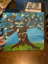 Wooden family tree canvas paintings Greenwood, 72936