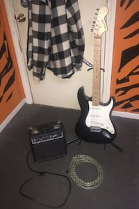 Guitar with amp and cord  South Easton, 02375