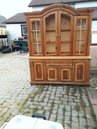 brown wooden china cabinet with cabinet St. Catharines, L2P 2L1