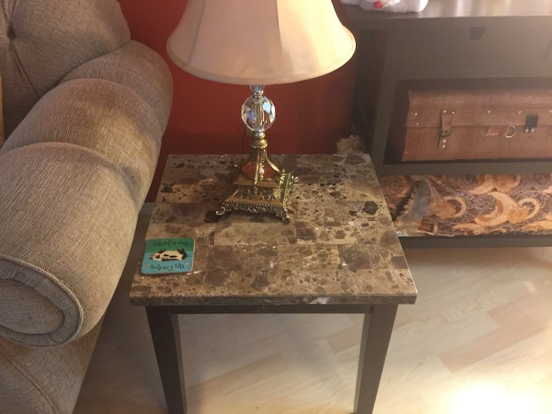 Marble top coffee table and end table set b5e21427-c414-43fb-9ae9-2e34b6ca612d