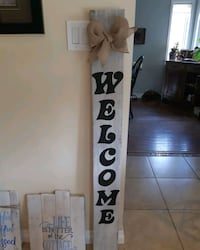 Barn board reclaimed wood sign