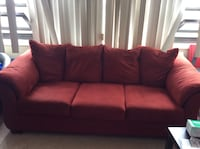 red fabric 3-seat sofa Chicago, 60656
