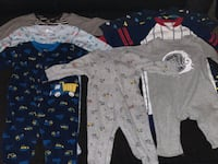 baby's assorted-color footie pajamas 811 mi
