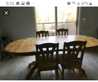 Oval dining table  Caledon